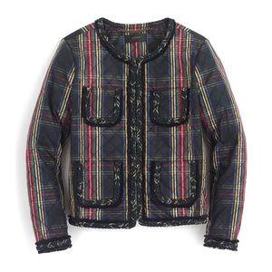 J. Crew Stewart Tartan Plaid Quilted Lady Jacket